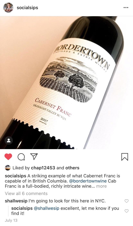 Best BC Wines of 2020: Bordertown Cabernet Franc
