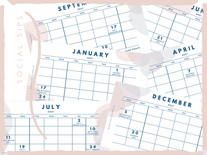 2021 drinks calendar
